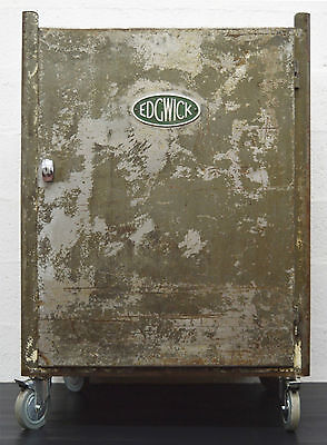Mid-Century Retro Vintage Industrial Metal Cabinet by Edgwick