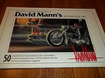 David Mann Motorcycle Art Artist's Choice Collection 50 Masterpieces Easyriders