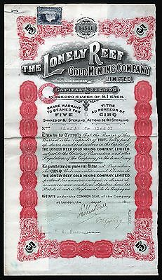 1932 Rhodesia: The Lonely Reef Gold Mining Company Limited