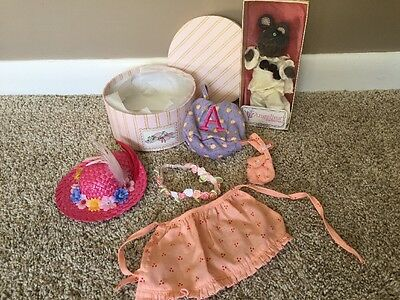 New American Girl Angelina Ballerina Gray Mouse And Hat Box Retired Outfit Set