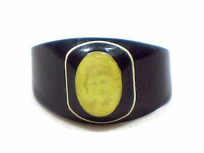 Vintage Celluloid Prison Sweetheart Photo Mourning Ring Handcrafted Size 10 NC