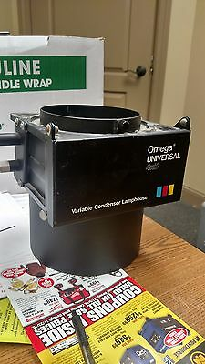 Omega Universal 4x5 Variable Condenser Lamphouse for Omega Enlarger, clean glass
