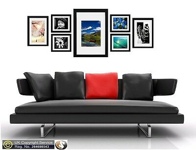 7 Piece Multi Picture Frame Photo Frame With Mount Collage Wall Hanging Frame