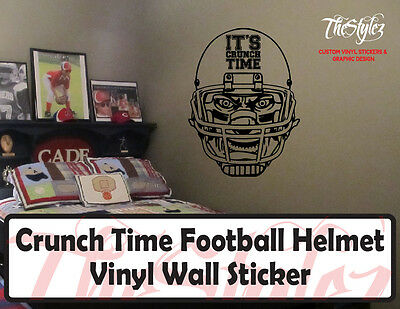 Crunch Time Football Custom Vinyl Wall Sticker