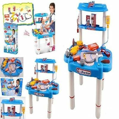 New Deluxe Kids Medical Doctor Play Set Toy Kit Hospital Pretend Station Game
