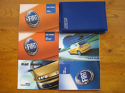 Fiat Punto Owners Handbook/Manual and Wallet 00-03