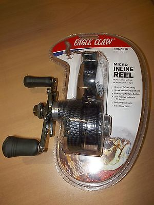 Eagle Claw Micro Inline Reel ECMCILIR new in package