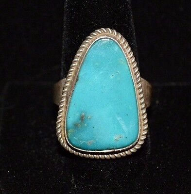 Ring Native American Turquoise Royston Sterling Silver Navajo Artist F Begay  12