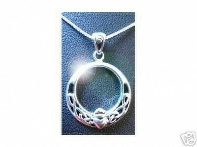 LOOK 2010 Claddagh Celtic Knot Infinity Silver Pendant Charm