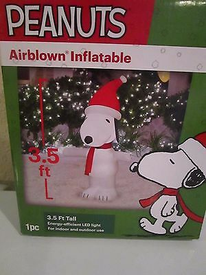 Peanuts Snoopy Christmas Airblown Inflatable 3.5 Ft Tall Nib