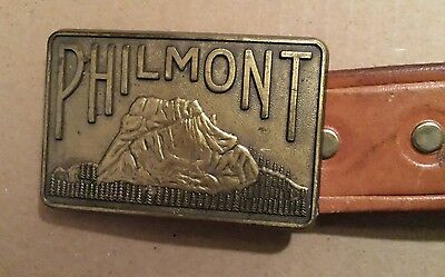 Vintage Boyscouts Philmont Cimarron Leather Belt and Buckle Size 34
