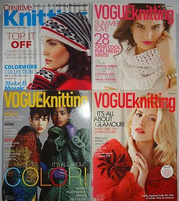 Vogue Creative Knitting Magazine Lot Winter Spring Summer Holiday Patterns