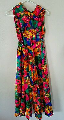 Jenelle of California Mod Floral Small Palazzo Wide Leg Jumpsuit Groovy Costume