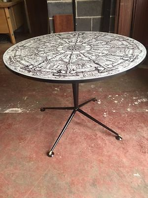 retro vintage table Italian 1950s 60s Fornasetti ponti era Heals atomic  Chairs