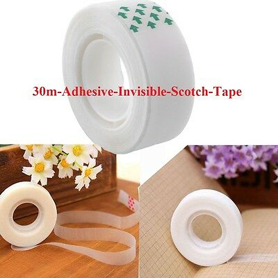 30m Adhesive Invisible Scotch Tape Mending Sealing Packing Home Industrial HQ