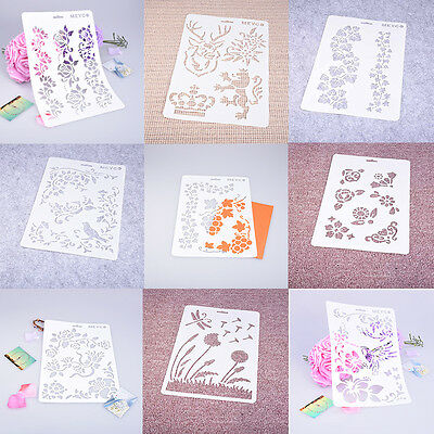 Soft Plastic Reusable Template Stencil Spray Mold Wall Cloth Paint Decor Craft