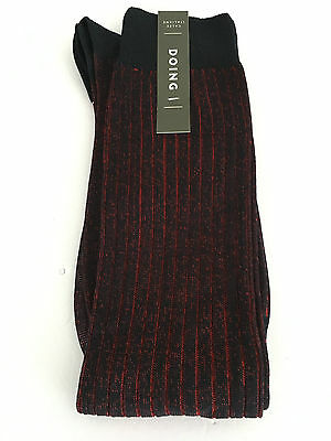DOING men's sock blu /red 100% cotone MADE IN ITALY