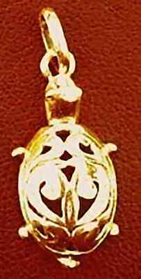 LOOK Gold Plated Celtic Turtle pendant Charm Mother Earth