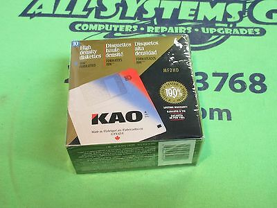 """KAO 3.5"""" Floppy Disks - MF2HD - 10 pack - IBM FORMATTED DISKS - NEW"""
