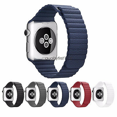 Magnetic Leather Loop Strap Watch Band for Apple Watch Series 2 / 1 iWatch