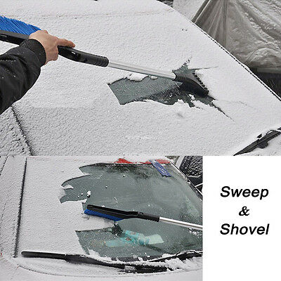Multifunction Extendable Tool Car Snow Shovel Scraping Defrost Control Deicing