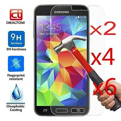 6X Tempered Glass Protective Screen Protector Film for Samsung Galaxy J1 2 3 5 7