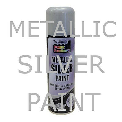 Silver Metallic Spray Paint 250Ml Interior Exterior All Purpose Furniture Craft