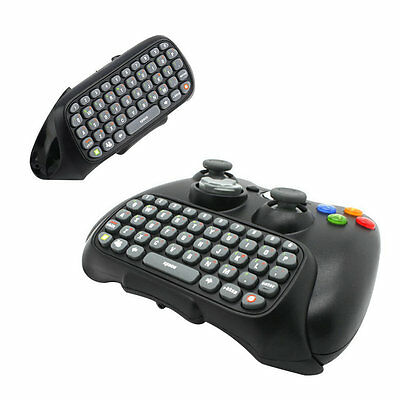Wireless Controller Messenger Game Keyboard Keypad ChatPad For XBOX 360 Black CS