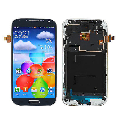 New Black For Samsung Galaxy S4 I9505 LCD Touch Screen Digitizer Assembly +Frame