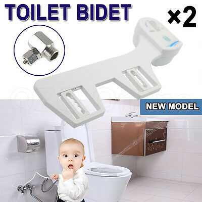 2×Premium Quality Bathroom Nature Water Wash Clean Unisex Healthy Toilet Bidet