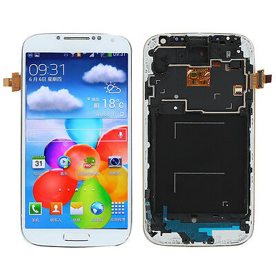 New For Samsung Galaxy S4 I9505 LCD Touch Screen Digitizer Assembly +Frame White