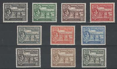 Turks & Caicos Islands  King George Vi Issue To 1/. 10 Mint Stamps