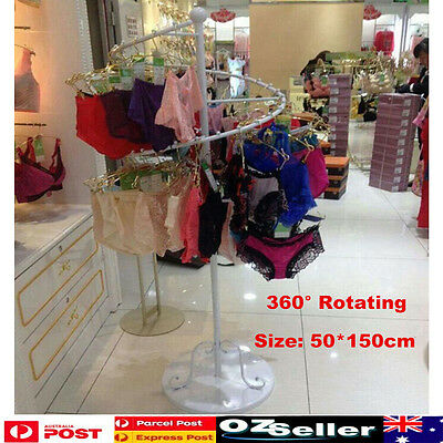 New Rotating Wrought Iron Underwear Hanging Rail Rack Shop Display Holder Stand