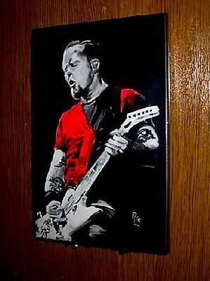 """Picture Wall plaque of James Hetfield 10 x 8""""  solid wood"""