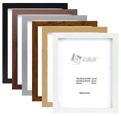 Photo Picture Frame Panoramic Poster Frame Black White Pewter Oak Beech Dark Oak