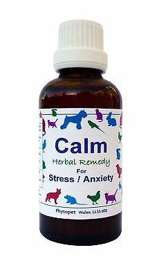 Phytopet Calm Natural Herbal Remedy - Stress & Anxiety Relief Pets Dog Cat 30ml
