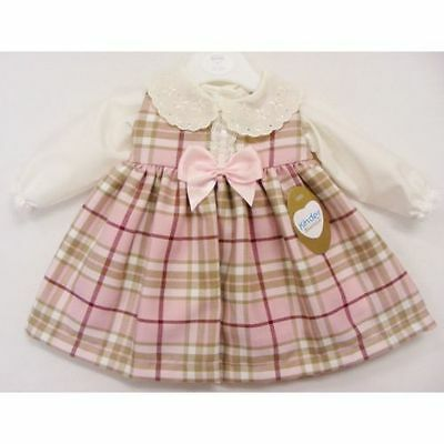 Beautiful Baby Tartan Spanish Romany Style Dress & Blouse by Kinder 0-3 months