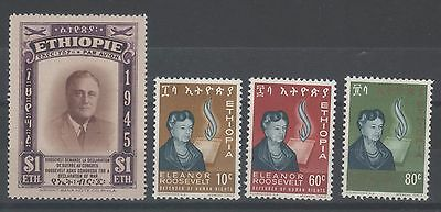 Ethiopia  Roosevelts Issue - 1945 & 1964 Mint Stamps