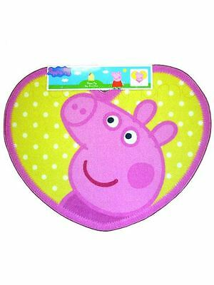 Peppa Pig Shaped Rug Yellow Pink 100% Official New Girls Bedroom