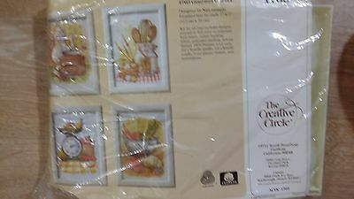 """THE CREATIVE CIRCLE Embroidery Kit """"GOURMET GALLERY"""" # 1763"""