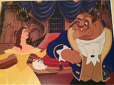 #195 Disney Channel 10 Years Exclusive Commemorative Lithograph Beauty And Beast