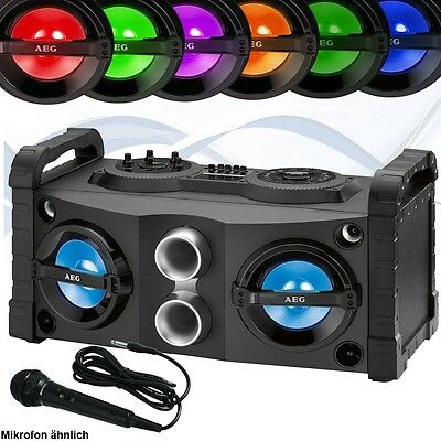 Musik Sound System tragbar Bluetooth MP3 Player Radio Bass Boombox Stereo Disco