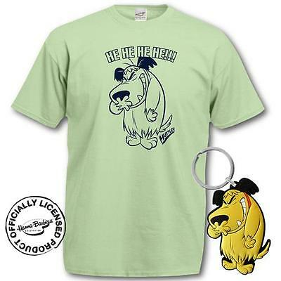 Penelope Pitstop - Muttley T-Shirt & Key Ring Gift Set - New & Official In Pack