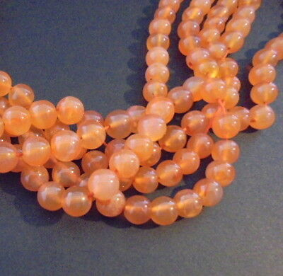 LOT 10 PERLES PIERRE CORNALINE NATURELLE RONDE 8mm NATURAL CARNELIAN STONE BEADS