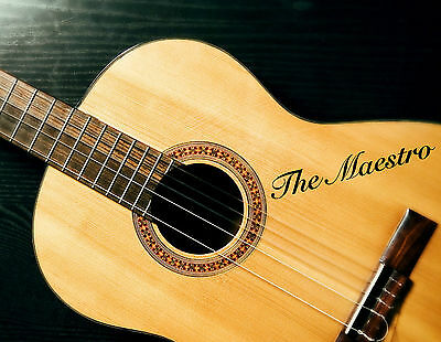 3 x PERSONALISED GUITAR NAME STICKERS VINYL TEXT FOR ACOUSTIC BASS CUSTOM