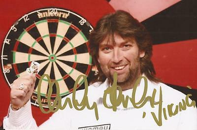 DARTS: ANDY FORDHAM 'THE VIKING' SIGNED 6x4 PORTRAIT PHOTO+COA