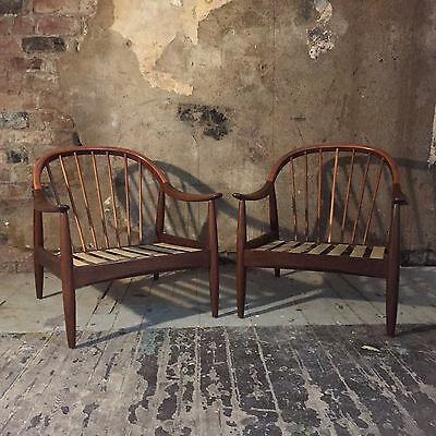 Vintage Greaves And Thomas Teak Chairs