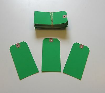 100  Avery Dennison Green Colored Shipping Tags Inventory Control Scrapbook  Tag