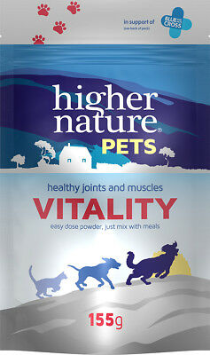 Higher Nature Vitality for Dogs & Cats 155g Healthy Joints Muscles