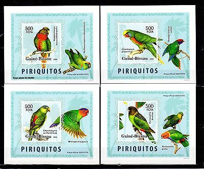 Guinea-Bissau 2006 Parrots Imperf. DeLuxe (Glossy Cardboard) MNH